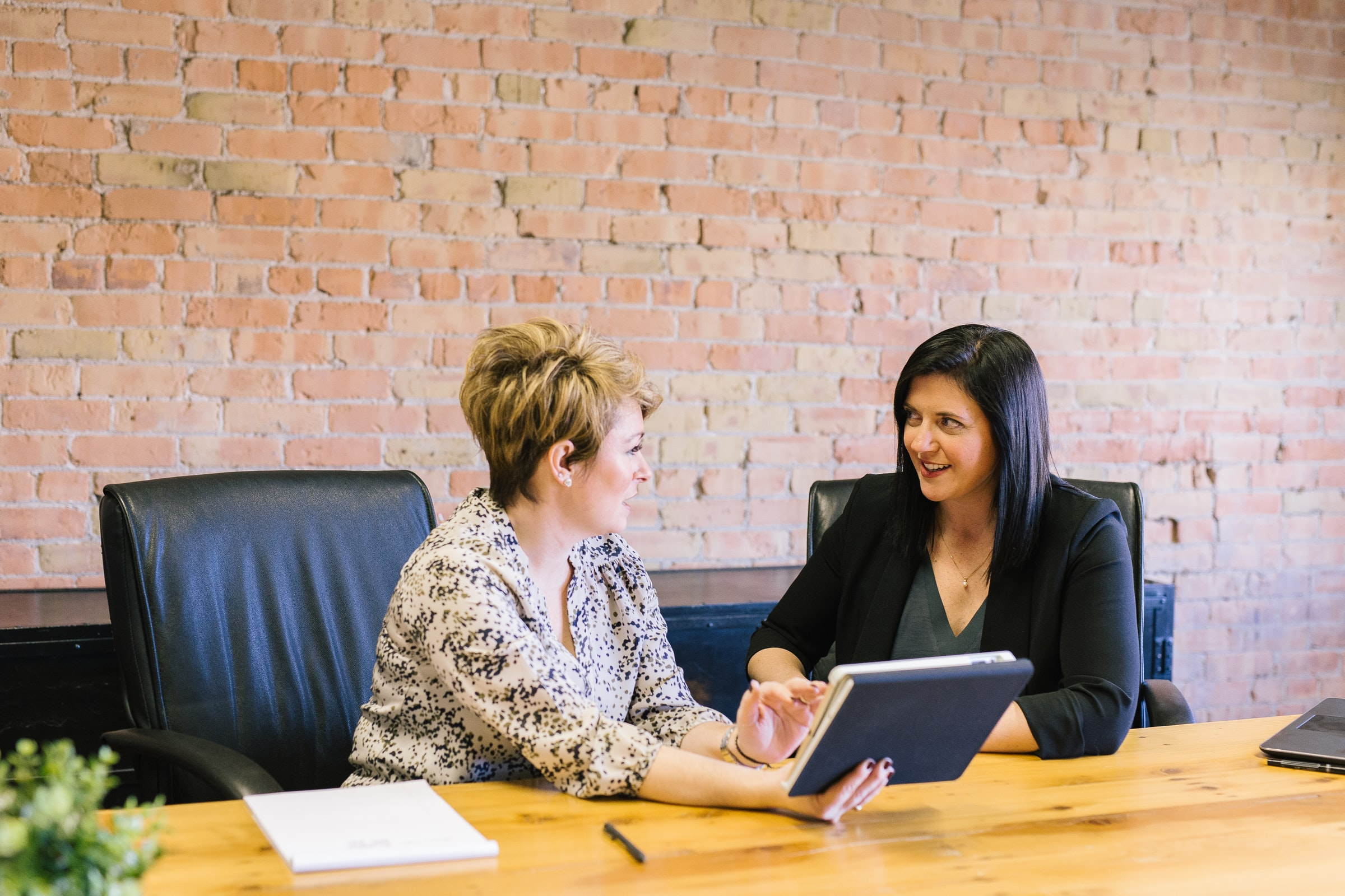 business working together 2 people consultant